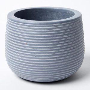 Groove Pot Dusty Grey